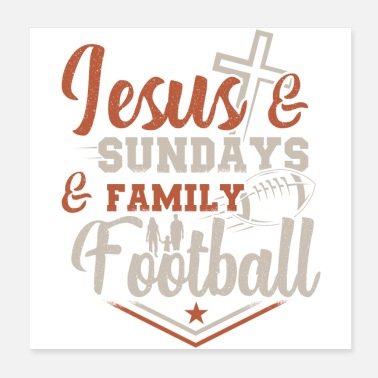 Football Team American Football Jesus | Sports fan team gifts - Poster