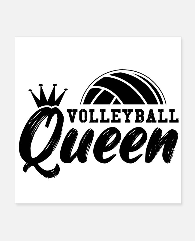 Blow Up Posters - Volleyball girls women | Team sport gifts - Posters white