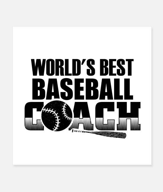 Catcher Posters - Baseball Trainer | Sports baseball bat gift - Posters white
