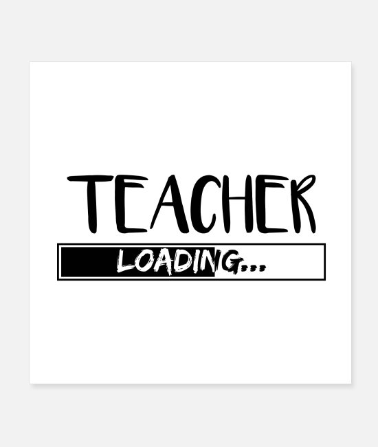 Occupation Posters - Teacher teacher Profession school teacher gifts - Posters white