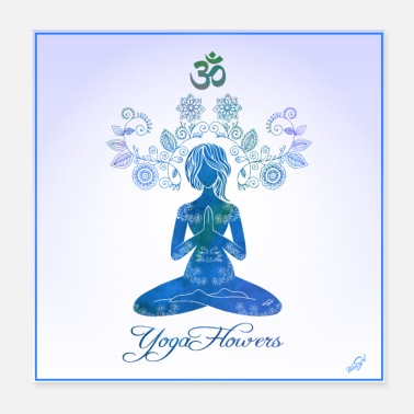 yoga flowers POSTER - Poster