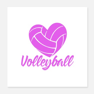Volleyballs Volleyball sport hobby volleyball player gift idea - Poster