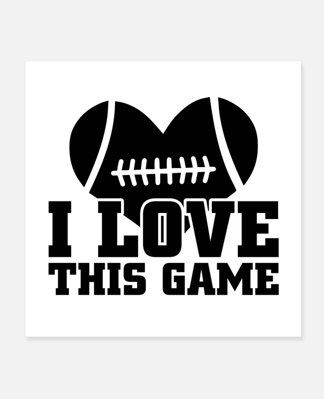 Touch Down Posters - Football game | Football fan touchdown gift - Posters white
