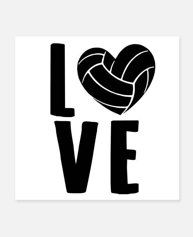 Blow Up Posters - Volleyball love Volleyball player gifts - Posters white