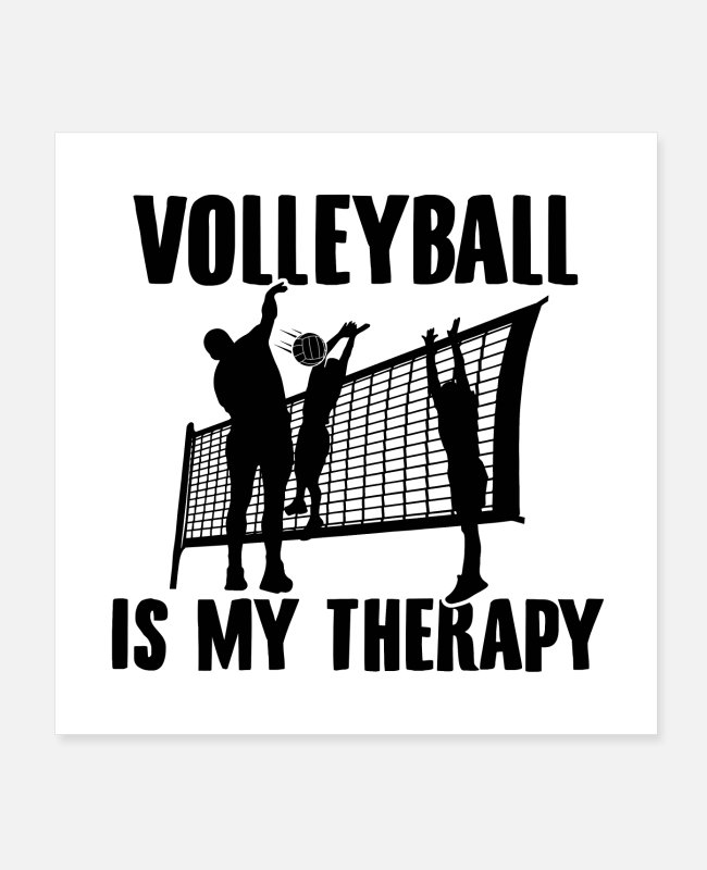 Blow Up Posters - Volleyball Sayings Volleyball hobby gifts - Posters white