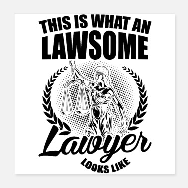 State Exam Lawyers Profession | Lawyer lawyer law BGB gifts - Poster