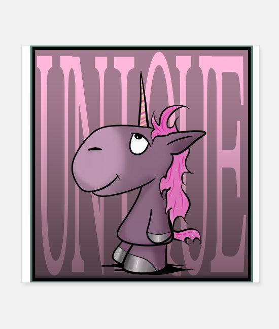 Fairy Tale Figure Posters - Little unicorn - Posters white
