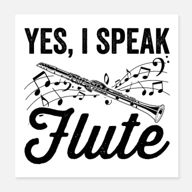 Musical Instrument Flutes musical instrument | Flute music gifts - Poster