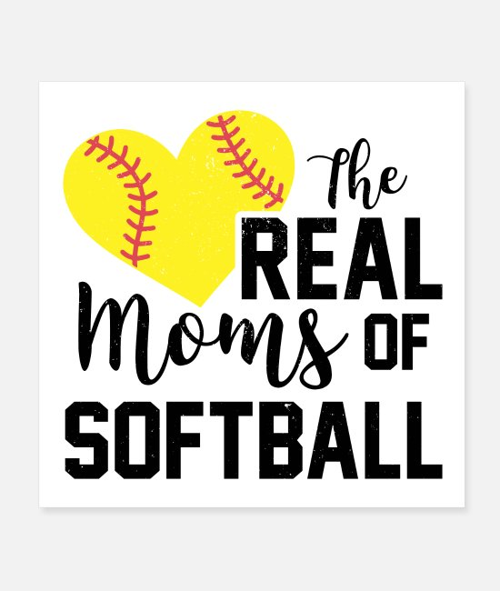 Catcher Posters - Softball Mama | Mothers day mother sports gifts - Posters white