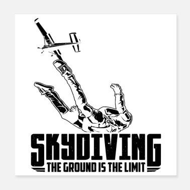 Skydiving Skydive | Skydiver skydiving hobby gift - Poster