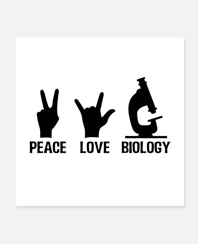 Professor Posters - Biologist | Biologist biology microscope gift idea - Posters white