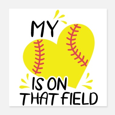 Softball Helmet Softball Team | Softball team gift idea - Poster