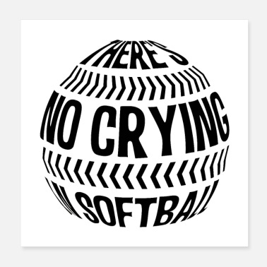 Softball Helmet Softball | Softball pitcher training gifts - Poster
