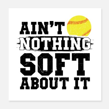 Softball Helmet Softball | Pitcher player coach team gifts - Poster