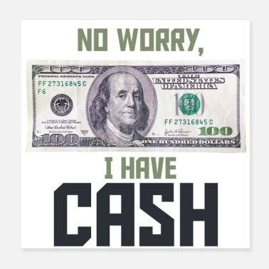 No worry, I have Cash Money Franklin 100 dollars - Poster