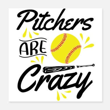 Softball Player Softball pitcher | Softball player sport hobby gift - Poster