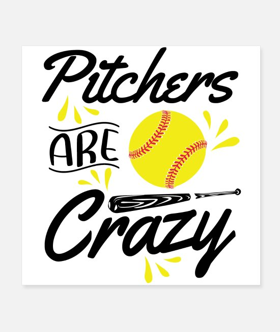 Catcher Posters - Softball pitcher | Softball player sport hobby gift - Posters white