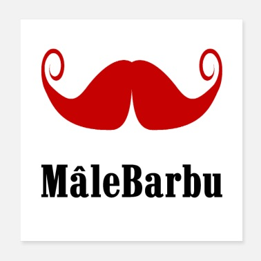 Male MALE BARBU! - Poster