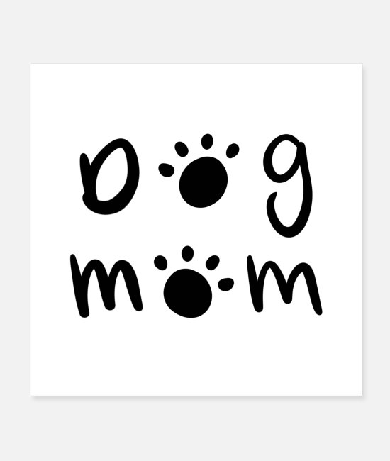Patte Posters - Chien maman - Posters blanc