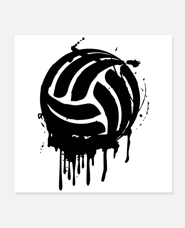 Blow Up Posters - Volleyball Player coach team gifts - Posters white