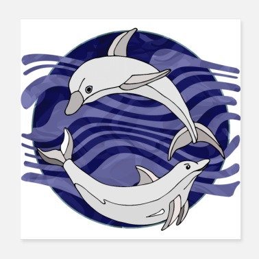 Sea dolphins - Poster