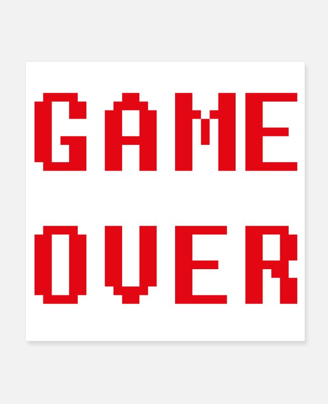 Game Posters - Game over - Posters white
