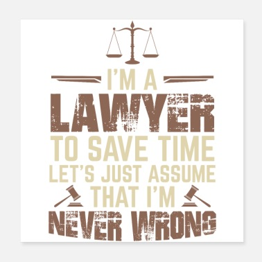 Paragraph Lawyer | Lawyer attorney law study gift - Poster
