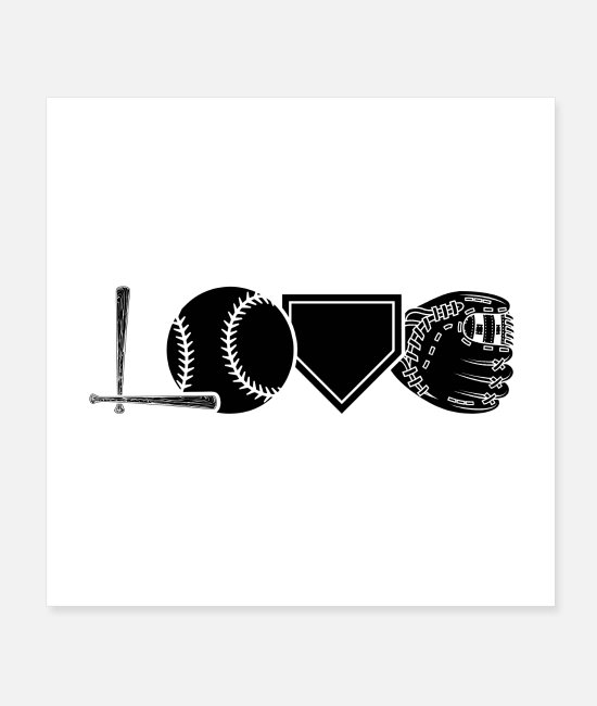 Catcher Posters - Baseball player | Baseball bat team gifts - Posters white