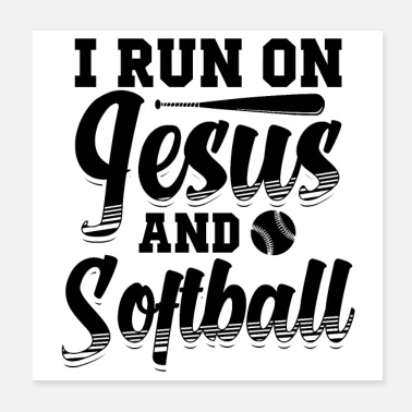 Softball Helmet Softball player | Softballer Sports Team Gifts - Poster