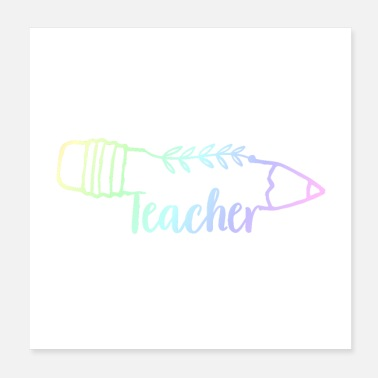 Vocational School Teacher Teacher teacher | Teaching class teacher gifts - Poster