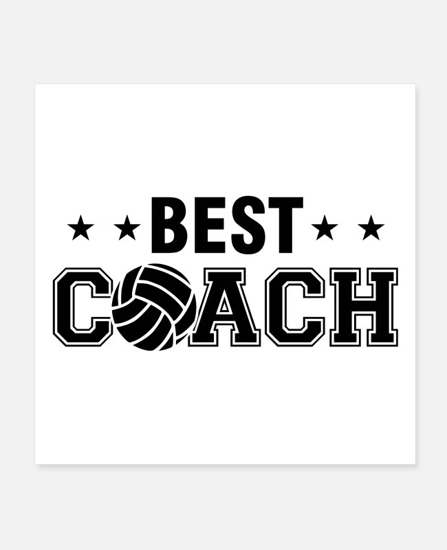 Blow Up Posters - Volleyball Coach | Team sport training gifts - Posters white