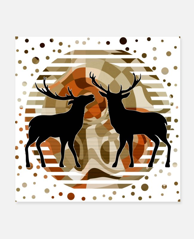 Stag Posters - Deer - Posters white