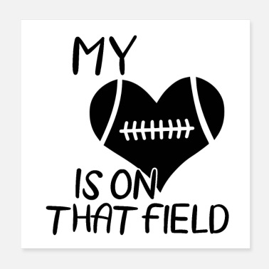 American Football Team American football | Coach team player gift - Poster