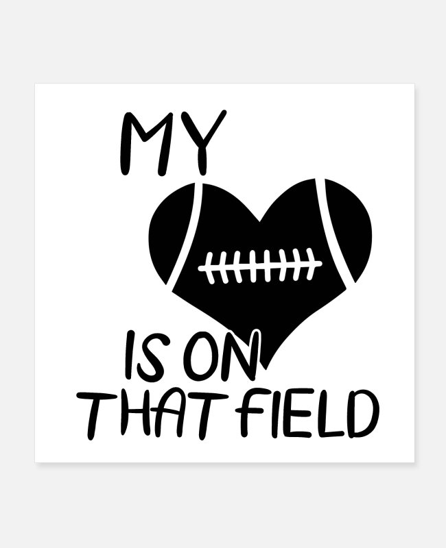 Touch Down Posters - American football | Coach team player gift - Posters white