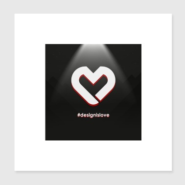 Heart Logo Square Background - Poster 20x20 cm