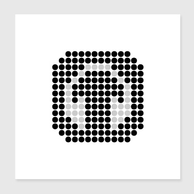 DOTTED HEADPHONES (b) - Poster 20x20 cm