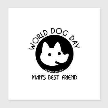 WORLD DOG DAY UK (b) - Poster 20x20 cm
