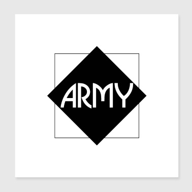ARMY (b) - Poster 20x20 cm