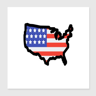 United States - Poster 20x20 cm