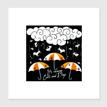 It's raining cats and dogs - Poster 20x20 cm