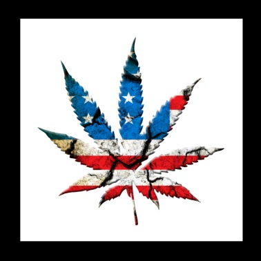 Weed sheet American Style - Poster 20x20 cm