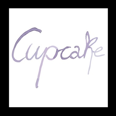 Cupcake prydnad i lila - Poster 20x20 cm