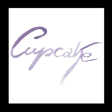 Cupcake letters in paars - Poster 20x20 cm