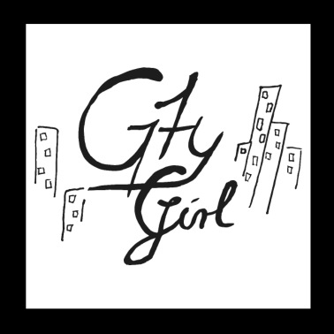 Scripture City Girl (Vector Art) - Poster 20x20 cm