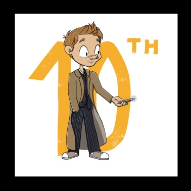 The 10th Doctor, versione chibi - Poster 20x20 cm