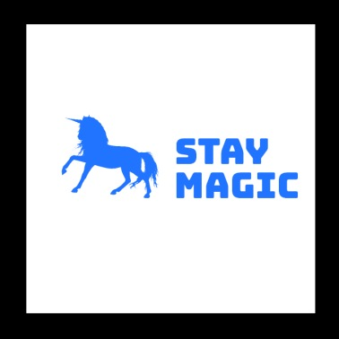 Stay Magic Unicorn Unicornio - Póster 20x20 cm