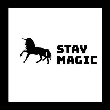Stay Magic Unicorn - Póster 20x20 cm