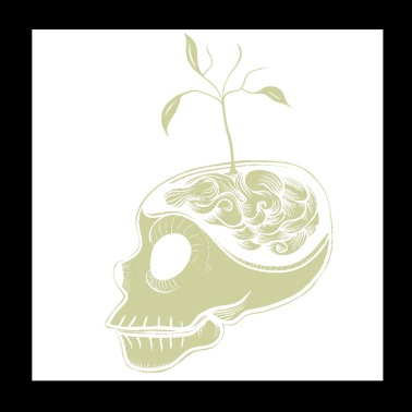 Cute Skulls Think Green - Poster 20x20 cm