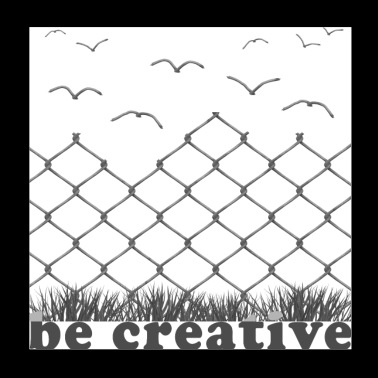 be creative - Poster 20x20 cm