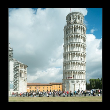 Leaning tower of Pisa Tuscany - Poster 20x20 cm